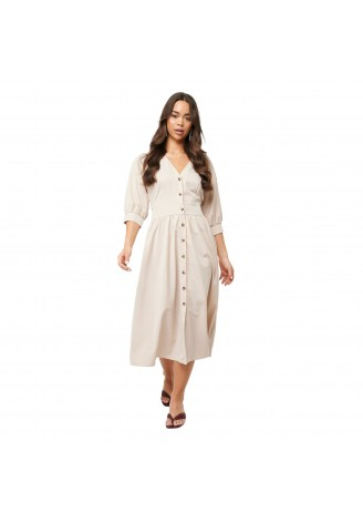 Na-Kd Belted Balloon Sleeve Dress